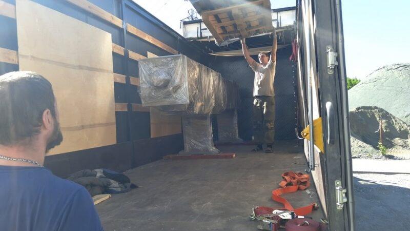 Отгрузка на Кольскую ГМК оборудования для нового цеха по плавке никеля