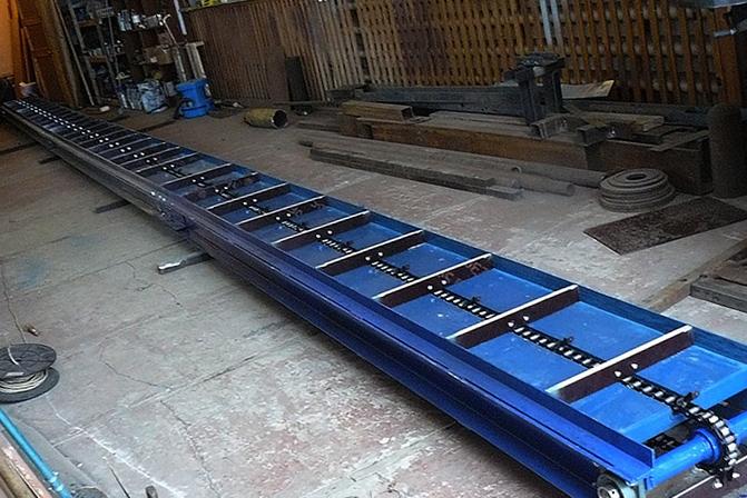 Цепной конвейер комплектующие течки для транспортеров