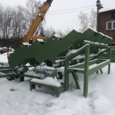 Изготовлены транспортеры для лесоперерабатывающего производства г. Вязьма